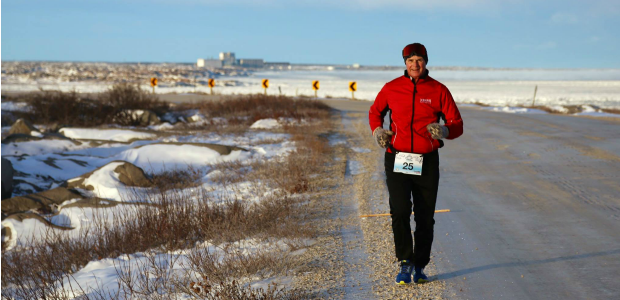4. Polar Bear Marathon, Churchill Manitoba, Nov. 20, 2016