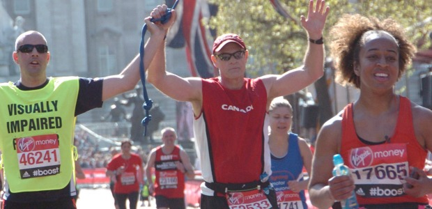 London Marathon-April 13, 2014 (Michael Ovens and me)
