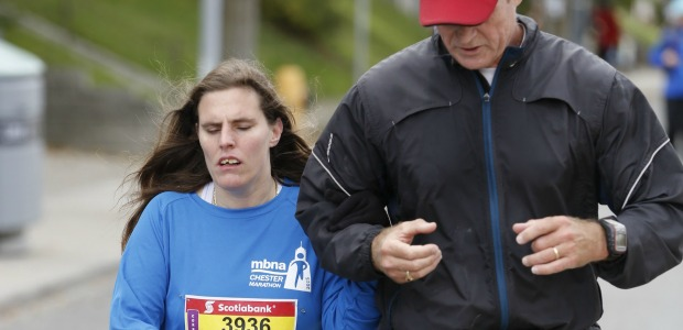 3. Scotia Marathon, October 18, 2015-Guiding Blind Runner Louise (23)
